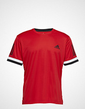 adidas Tennis Club 3 Stripes Tee T-shirts Short-sleeved Rød Adidas Tennis