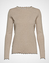 Mango Scalloped Details Sweater Strikket Genser Beige Mango