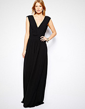 Mango V Neck Maxi Dress - Black