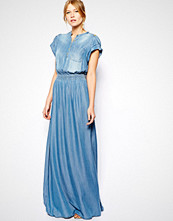 Mango Denim Maxi Dress - Blue