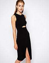 Mango Peekaboo Tailored Pencil Dress - Black