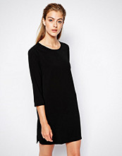 Mango Crepe Woven T-Shirt Dress - Black