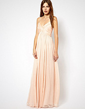 Mango Chiffon Ruch Maxi Dress - Red