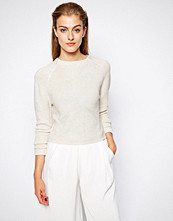 Mango High Neck Knitted Top - Cream