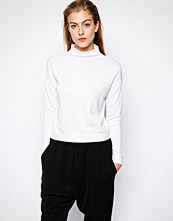 Mango Compact Knit High Neck Knitted Top - White