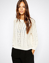 Mango Cable Knit Sweater - Beige