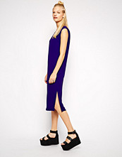 Monki V Neck Midi Dress