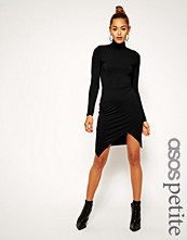 ASOS Petite Asymmetric Polo Bodycon Dress