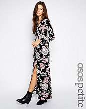 ASOS Petite Exclusive Maxi Dress in Winter Floral With Side Split