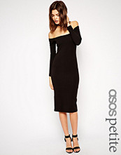 ASOS Petite Long Sleeve Bardot Midi Bodycon Dress