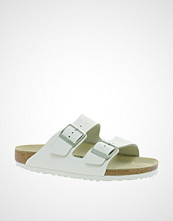 Birkenstock Arizona White Leather Two Strap Narrow Fit Sandals