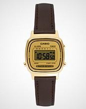 Casio Brown Leather Strap Digital Watch LA670WEGL-9EF