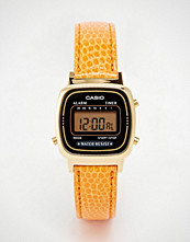 Casio LA670WEGL-4A2EF Orange Snake Leather Digital Watch