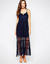 Bcbgeneration BCBG Generation Midi Slip Dress With Mesh Hem