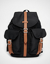 Herschel Supply Co Dawson Backpack in Black with Contrast Tan