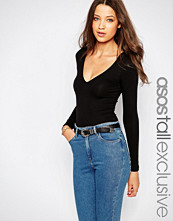 Asos Tall Long Sleeve Plunge Body with Thong