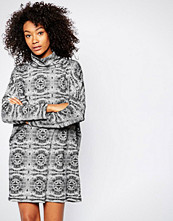 Monki Printed Roll Neck Jumper Dress
