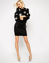 Love Moschino Skirt With Star Studded Pockets