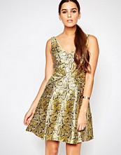Adelyn Rae Gold Skater Dress