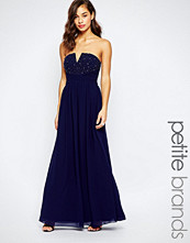 Little Mistress Petite Strapless Maxi With Embellished Bodice
