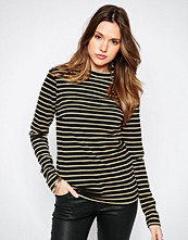 Vila Striped High Neck Long Sleeve Top