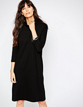 Just Female High Neck Dress in Black