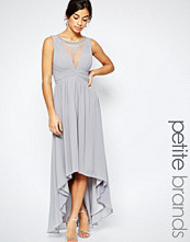Little Mistress Petite Maxi Dress With Embellished Mesh Insert