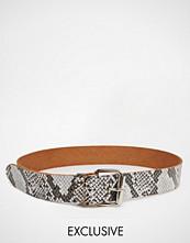 Reclaimed Vintage Leather Snake Belt