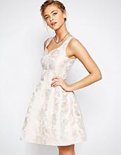 Coast Bridget Jacquard Fit n Flare Dress in Pink