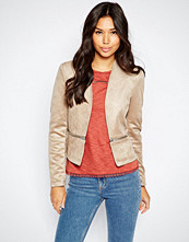 Vero Moda Suedette Jacket With Zip Detail