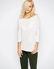 Selected Sahin 3/4 Sleeve Tunic Top In White