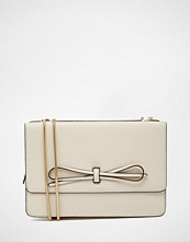 Reiss Leather Bow Front Bag