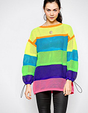 Love Moschino Neon Stripe Mesh Jumper