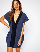 One Teaspoon Bangalow Linen Suede Dress in Navy