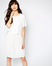 Selected Drop Waist Dress with Cut Out