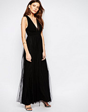 Bcbgeneration Tulle Maxi Dress in Black
