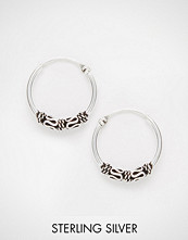 Kingsley Ryan Sterling Silver 14MM Wire Wrap Hoop Earrings