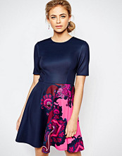 Ted Baker Thabie Skater Dress with Placement Print