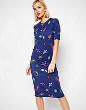 House of Holland Bug Print Midi Dress