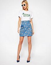 House of Holland Embroidered Denim Mini Skirt