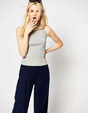 Monki High Neck Knitted Halterneck Top