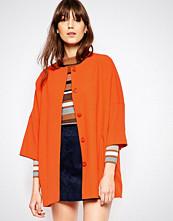 Helene Berman Kimono Coat In Orange