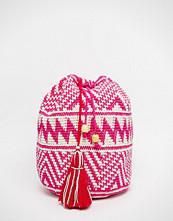 Hiptipico Handmade Crochet with Beaded Tassel Backpack