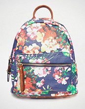 Liquorish Floral Print Backpack