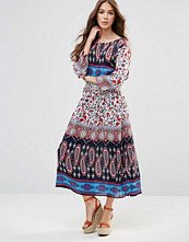 Raga Take Heart Printed Maxi Dress with Cross Over Back