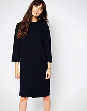 Just Female Ballad Shift Dress in Navy