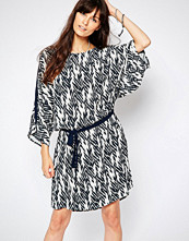 Just Female Kimono Sleeve Dress in Ikat Print