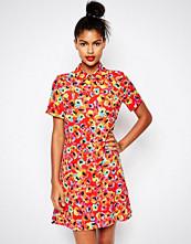 Sonia by Sonia Rykiel Red Printed Shirt Dress