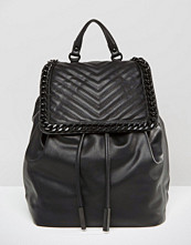 ALDO Backpack With Chevron & Chain Detail