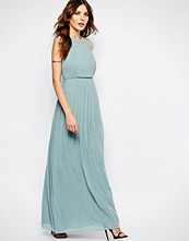 Bcbgeneration High Neck Pleat Maxi Dress in Blue